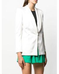 Styland ショールカラー ジャケット White