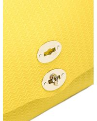 Zanellato Yellow Clasp Closure Tote Bag