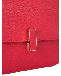 Valextra Red Fold-over Closure Crossbody Bag