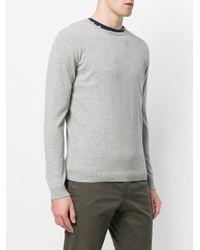 Roberto Collina Gray Classic Sweater for men