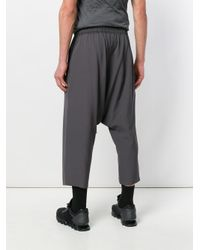Rick Owens Gray Drop-crotch Trousers for men