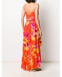 Twin Set フローラル ドレス Orange