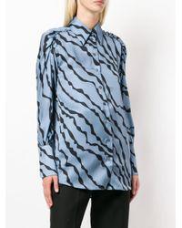 Victoria, Victoria Beckham Blue Klassisches Hemd