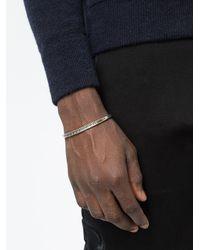 Tobias Wistisen - Metallic Cross Line Bracelet - Lyst