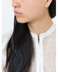 Astley Clarke - Metallic 'honeycomb' Diamond Stud Earrings - Lyst