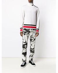 メンズ Just Cavalli ロゴ タートルネック セーター White