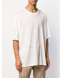 Maison Margiela T-Shirt im Oversized-Look in White für Herren