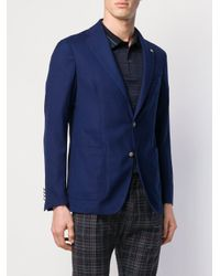 メンズ Tagliatore Monte Carlo シングルジャケット Blue