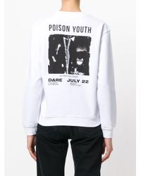 McQ Alexander McQueen White Poison Youth Tour Date Jumper