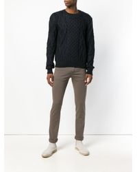 Pt05 Brown Swing Tinto Slim Trousers for men