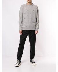 Maison Kitsuné Sweatshirt mit Fuchsstickerei in Gray für Herren