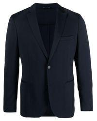 メンズ Tonello ウール シングルスーツ Blue