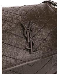 Saint Laurent Brown Niki Monogram Bag