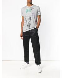 Stamp print T-shirt Etro pour homme en coloris Gray