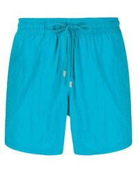 Vilebrequin Blue Micro Ronde Des Tortues Swim Shorts for men