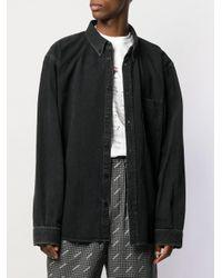 Balenciaga Jeanshemd mit Print in Black für Herren