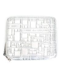 Comme des Garçons Gray 'embossed Logo' Wallet
