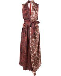 Adam Lippes ペイズリー ドレス Red