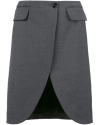 Scalloped hem flared skirt di MM6 by Maison Martin Margiela in Multicolor