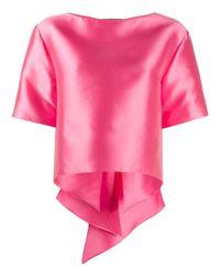 Alberta Ferretti Pink Oversized Bow Detailed T-shirt