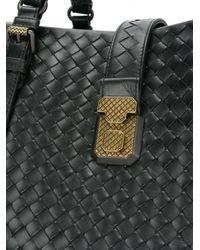 Bottega Veneta - Black Nero Intrecciato Calf Medium Roma Bag - Lyst