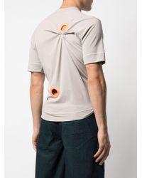 Camiseta con ojales ANGUS CHIANG de hombre de color Gray