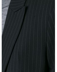 P.A.R.O.S.H. - Black Pinstriped Single Breasted Blazer - Lyst