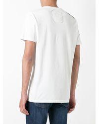 Mr & Mrs Italy White Embroidered Logo T-shirt for men