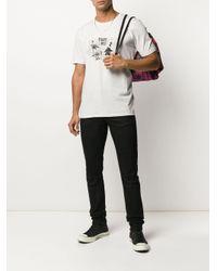 メンズ Saint Laurent ハングオーバー Tシャツ White