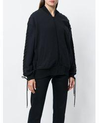 A.F.Vandevorst Black Zipped Bomber Jacket