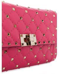 Valentino Pink Free Rockstud Clutch