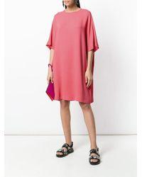 M Missoni - Pink Plain Shift Dress - Lyst