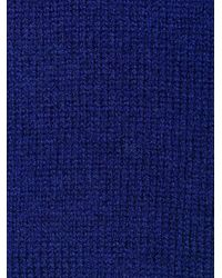Maison Margiela Blue V-neck Cardigan for men