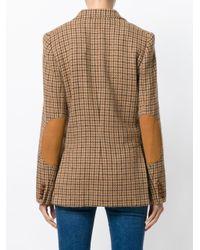 Polo Ralph Lauren Brown Asymmetric Single-breasted Blazer