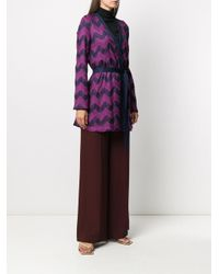Cardigan lungo di M Missoni in Purple