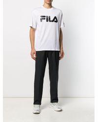 メンズ Fila ロゴ Tシャツ White