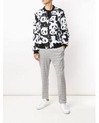 メンズ Dolce & Gabbana パンダ ボンバージャケット Black