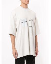 T-shirt Shaped Noise con stampa di Julius in White da Uomo