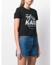 Camiseta corta Karlifornia Karl Lagerfeld de color Black