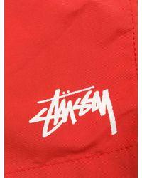 Stussy Badeshorts mit Logo-Patch in Red für Herren