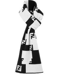 メンズ Fendi Ff Tetris スカーフ Black
