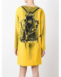 Moschino - Yellow Trompe-l'œil Backpack Dress - Lyst