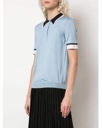 Prada シアー ポロシャツ Blue