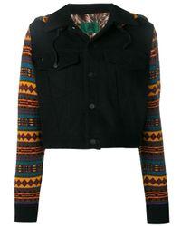 Veste à manches et capuche contrastantes Jean Paul Gaultier Pre-Owned en coloris Black