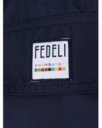 メンズ Fedeli ロゴ トランクス水着 Blue