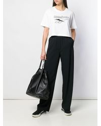 Reebok ロゴ クロップド Tシャツ White