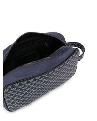 メンズ Emporio Armani ロゴ トラベルポーチ Blue