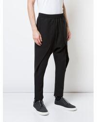 Drop-crotch trousers di Private Stock in Black da Uomo