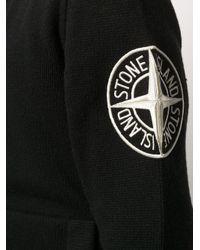 メンズ Stone Island ジップアップ カーディガン Black