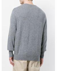 Maglione Oxford '1ply' di N.Peal Cashmere in Gray da Uomo